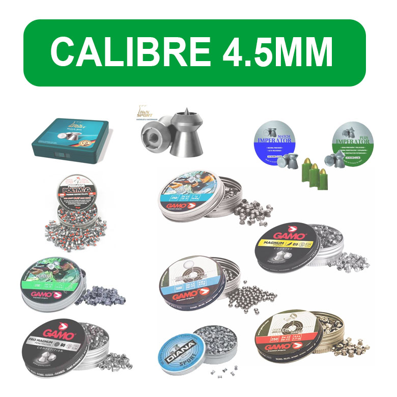 Balines calibre 4.5mm