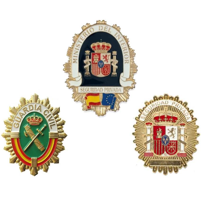 Placas e insignias