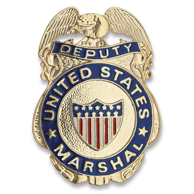 placa cuerpo de alguaciles EEUU