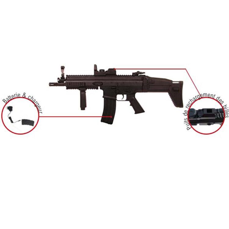 bateria fusil airsoft SCAR