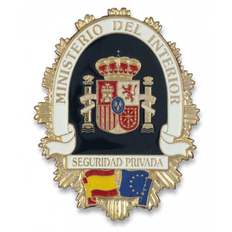 placa cartera ministerio defensa seguridad privada
